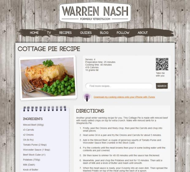 Warren Nash Recipe