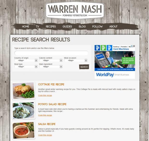 Warren Nash Search Recipe
