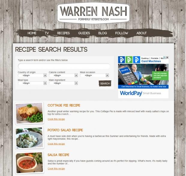 Warren Nash Search Recipe