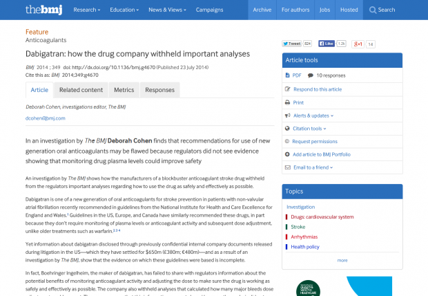 The BMJ article page