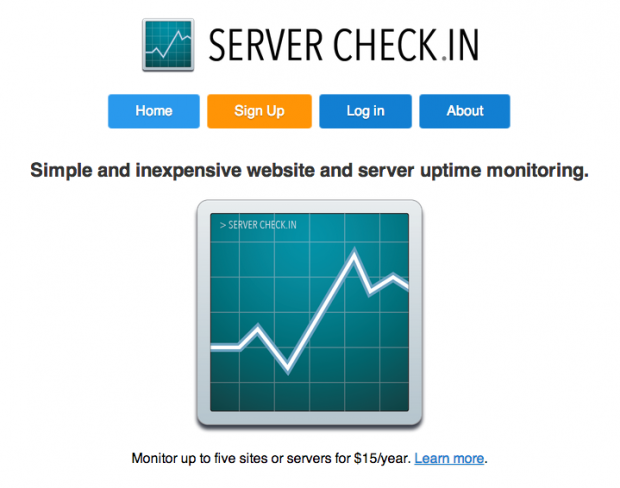 Server Check.in Homepage