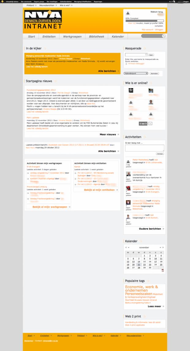 home - NV-A intranet