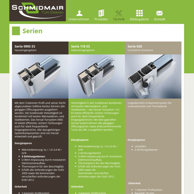 Schmidmair Tür-Design Technology