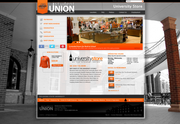 OSU University Store Homepage