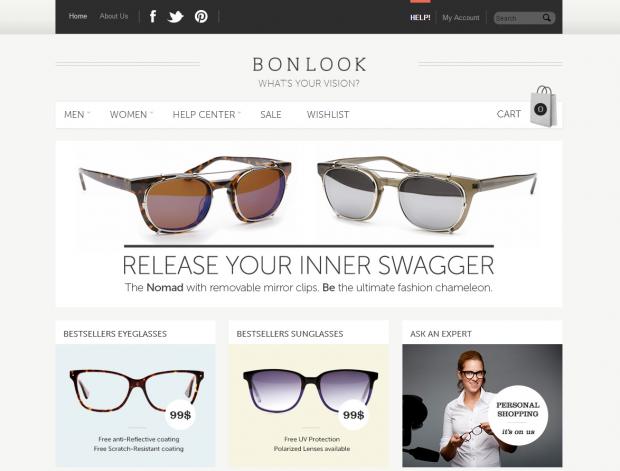 BonLook Eyewear Front Page