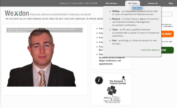 Wexdon website homepage
