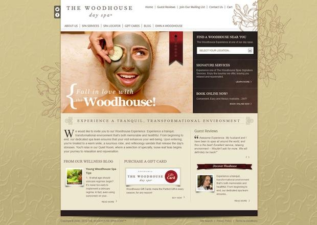 The Woodhouse Day Spa Home Page