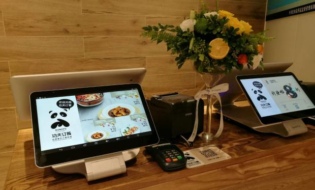 POS tablet in store