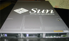 Picture of the Sun Fire V20z server