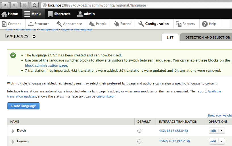 translations imported but error shows:  po could not be copied