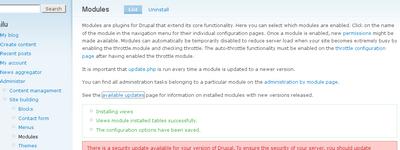 Manually updating drupal modules