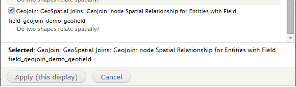 Select from Available GeoJoins