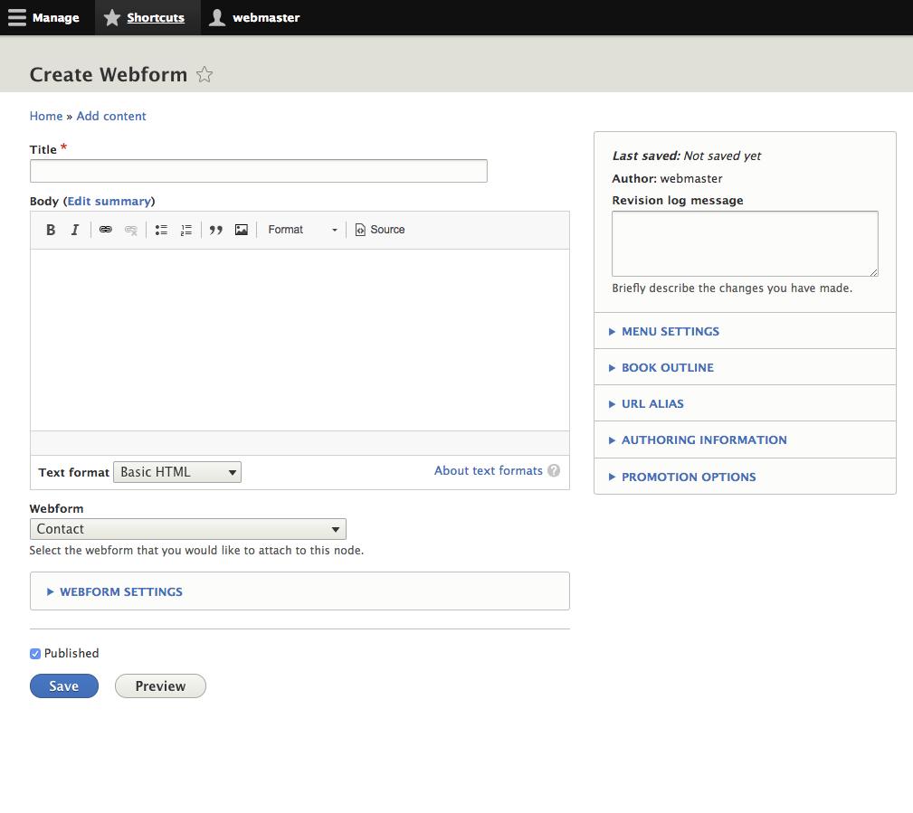 Webform Features | Drupal 8 guide on Drupal org