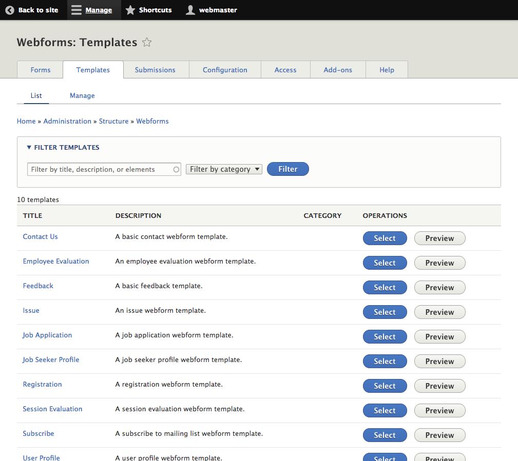 Webform Features   Drupal 8 guide on Drupal org