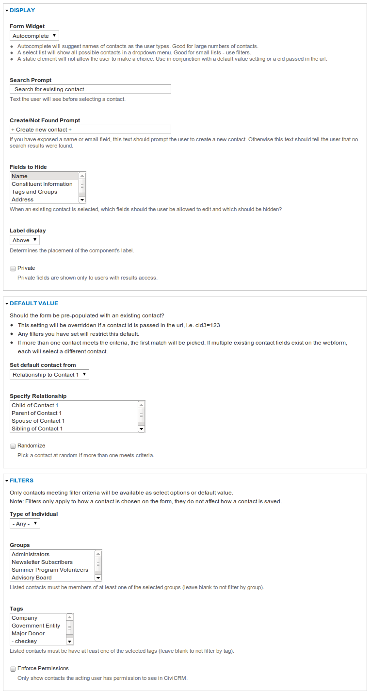 Sweet New Features for Building Webforms   CiviCRM