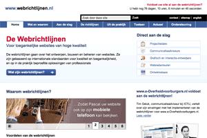 Screenshot of the Webguidelines website