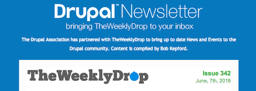 Header of the Weekly Drupal Newsletter