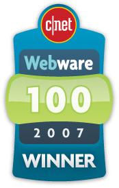 CNet Webware 100 Winner