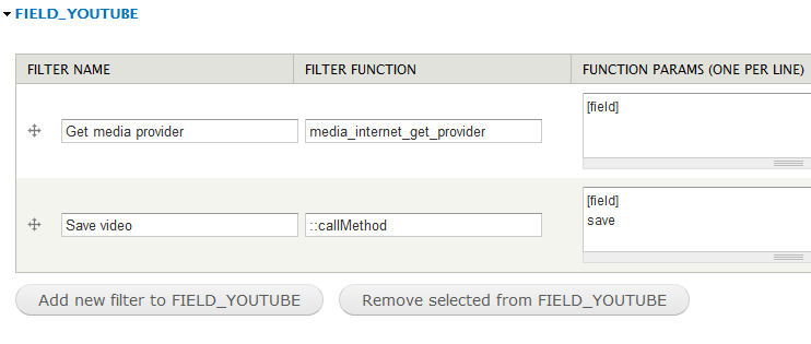 Feed Import Youtube Filters